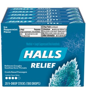 HALLS IN BOX #05081 ICE PEPPERMINT