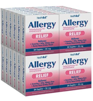 MED #24 ALLERGY RELIEF 25MG PINK