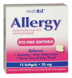 MED #23 ALLERGY RELIEF 25MG PINK