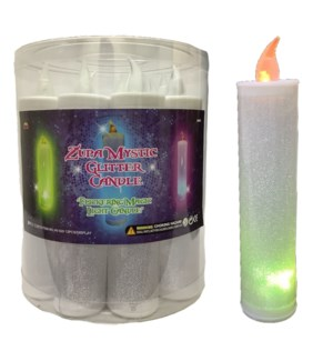 ZUPA MYSTIC #1702 LIGHT CANDLE W/GLITTER