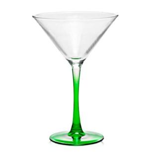 MARTINI GLASS #21680 GREEN BUTTOM