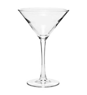 MARTINI GLASS#33466 CLEAR BUTTOM