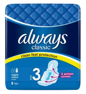 ALWAYS #60820 CLASSIC NIGHT PADS