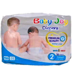 BABY JOY DIAPERS SIZE 2