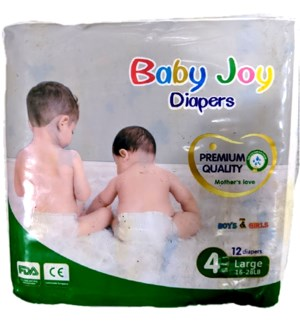 BABY JOY DIAPERS SIZE 4