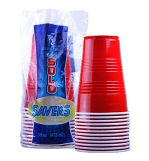 PLASTIC CUP #24505 SOLO SAVERS RED