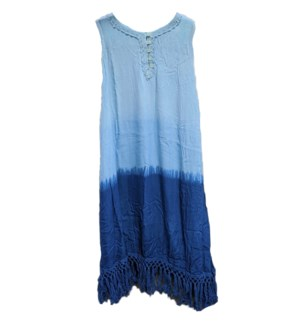 WOMEN'S DRESSES #54009 FRINGES TANK DRESS