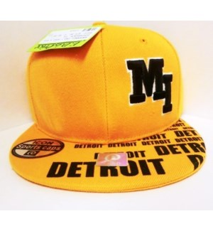 SPORT CAP - ORANGE & BLACK/ DETROIT MI