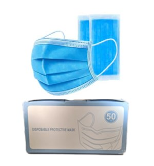 DISPOSABLE FACE MASK 3 LAYERS BLUE