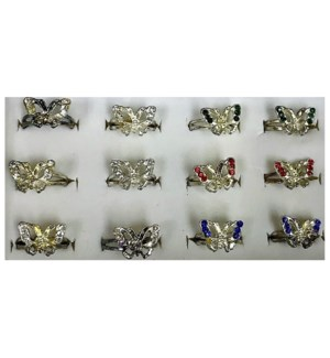 BUTTERFLY RINGS #CK-140 CUBIC ZIRCONIA