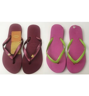 WOMEN SLIPPERS - PLAIN ASST