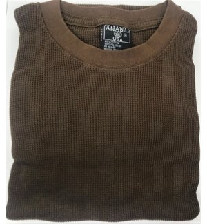 HEAVY THERMAL SHIRTS - BROWN