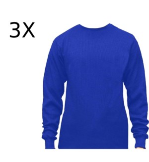 HEAVY THERMAL SHIRTS - ROYAL BLUE