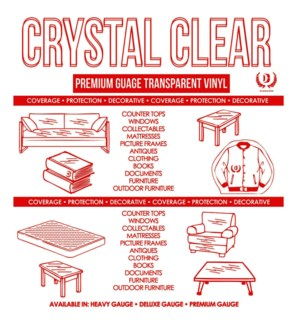 DT CLEAR TABLE COVER ROLL-RED