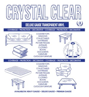 DT CLEAR TABLE COVER ROLL-BLUE