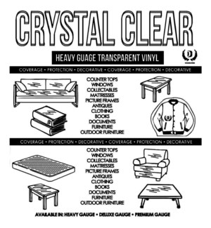 DT CLEAR TABLE COVER ROLL-BLACK
