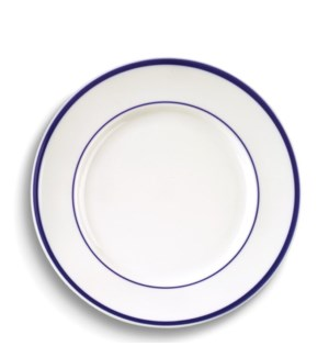 CERAMIC #00744 DINNER PLATE WHITE W/BLUE
