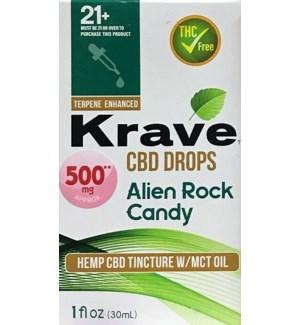 KRAVE CBD DROPS ALIEN ROCK CANDY