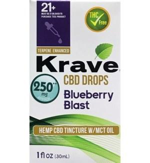 KRAVE CBD DROPS BLUEBERRY BLAST