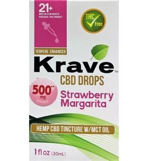 KRAVE CBD DROPS STRAWBERRY MARGARITA