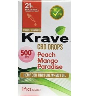KRAVE CBD DROPS PEACH MANGO PARADISE