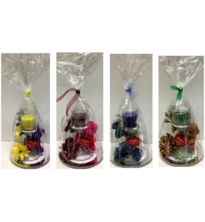 MOM DAY #4 GIFT SET BEAR,CANDLE & KEY CHAIN ON PLA