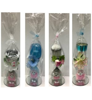 MOM DAY #8 GIFT SET BEAR KEY CHAIN,CANDLE & CLASS