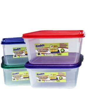 FOOD CONTAINER #IN24824 KEEP FRESH, RECT