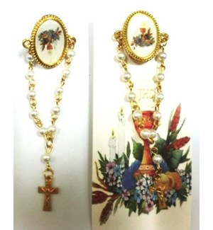 PIN ROSARY #JK041FI FIRST COMMUNION PICTURE