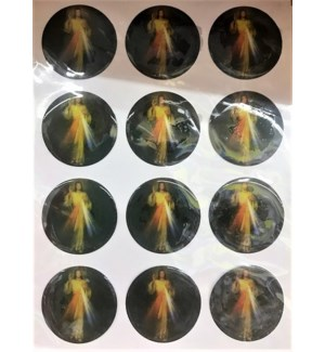 REL STICKERS #CR046D DIVINE MERCY