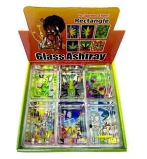 GLASS ASHTRAY ASSORTED