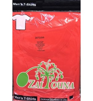 T-SHIRT RED ZAITOUNA