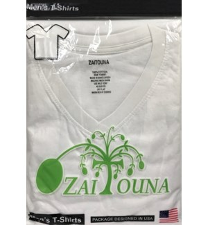 V-NECK SHIRT WHITE ZAITOUNA