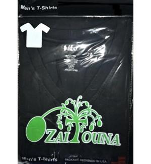 V-NECK SHIRT BLACK ZAITOUNA