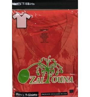 V-NECK SHIRT RED ZAITOUNA