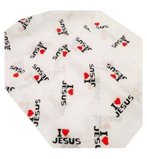 BANDANA #8842 I LOVE JESUS