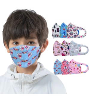 KIDS FASHION MASK #MSK-C-A 2 LAYERS PRINT