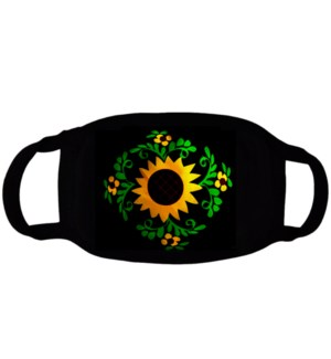 FASHION MASK #MSK-CAC SUNFLOWER 2 LAYERS COTTON