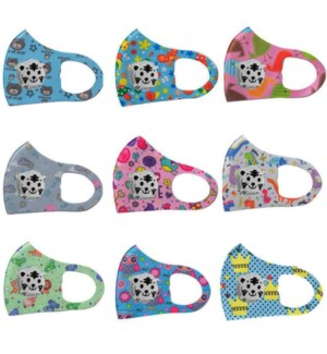 KIDS FASHION MASK #MSK-CF PRINTED W/PANDA FILTER