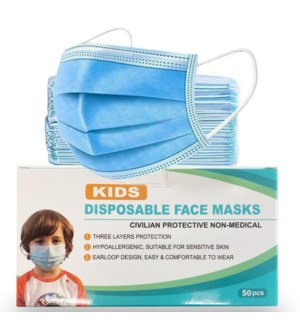 BOY DISPOSABLE FACE MASK 3 LAYERS