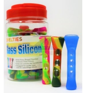 GLASS SILICON PIPE #70006 IN JAR