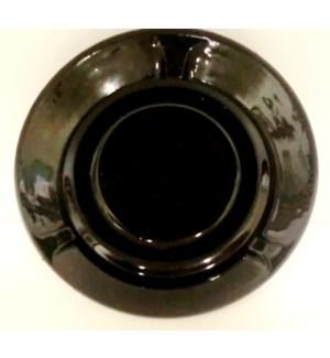 GLASS ASHTRAY #2-810B ROUND BLACK