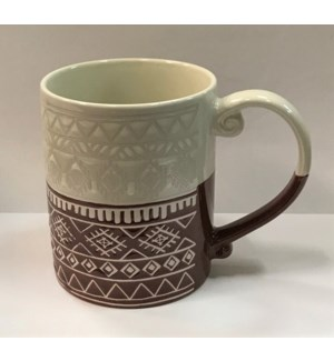 COFFEE MUG #TX38 TOW TONE COLOR