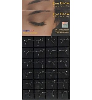 EYEBROW PIERCING #805024 BLACK