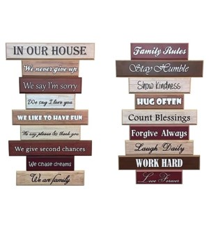 3D PICTURE #MD1830-001 HOUSE & FAMILY RULES