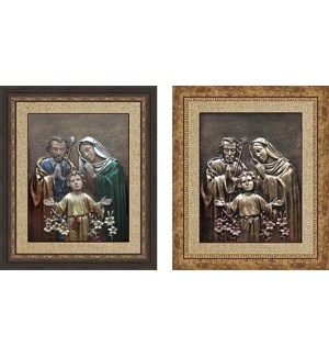 3D PICTURE #HD2228-034 HOLY FAMILY COPPER & COLOR