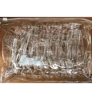 GLASS VIAL #55622 CLEAR ZIPPER BAG