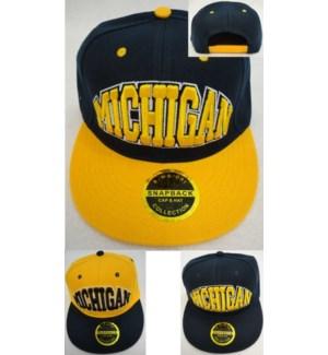 SPORT CAP #HT983 MICHIGAN, FLAT BILL