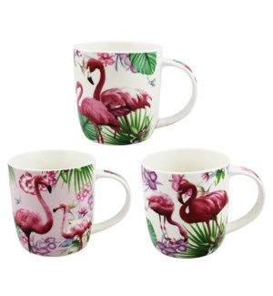 COFFEE MUG #S16076 FLAMINGO DESIGN