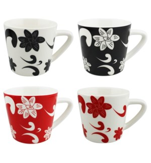 COFFEE MUG #WD3210 FLOWER DESIGN